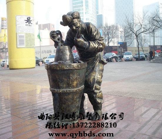 卖烤红薯雕塑,玻璃钢小品雕塑-ds475